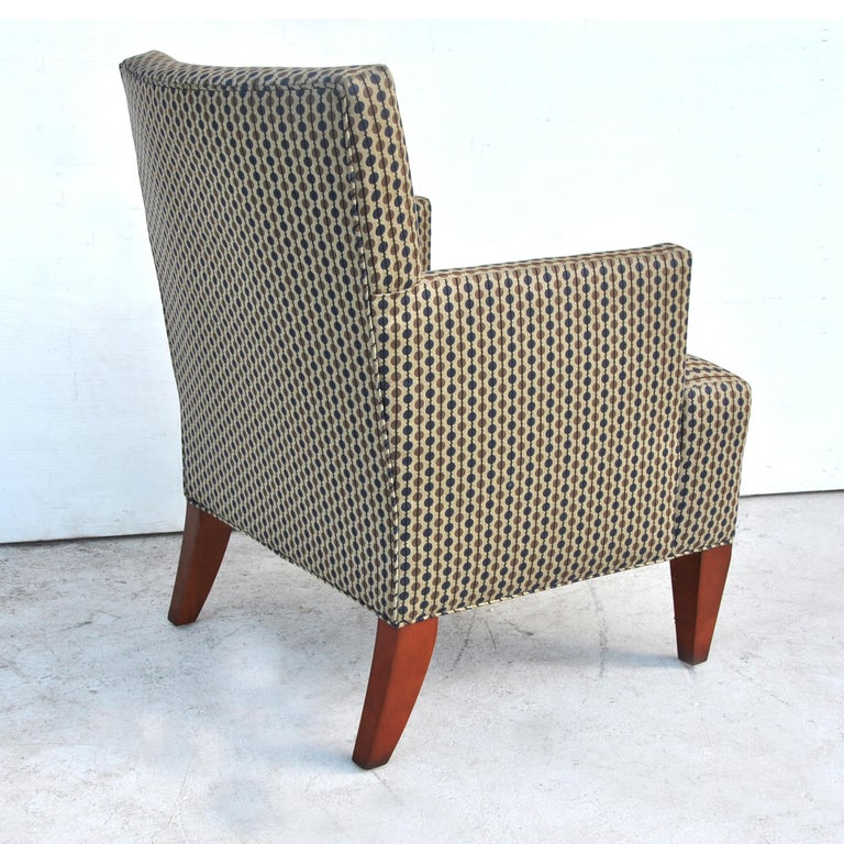 Contemporary Pair of Modern Lounge Chairs by Hickory Furniture For Sale
