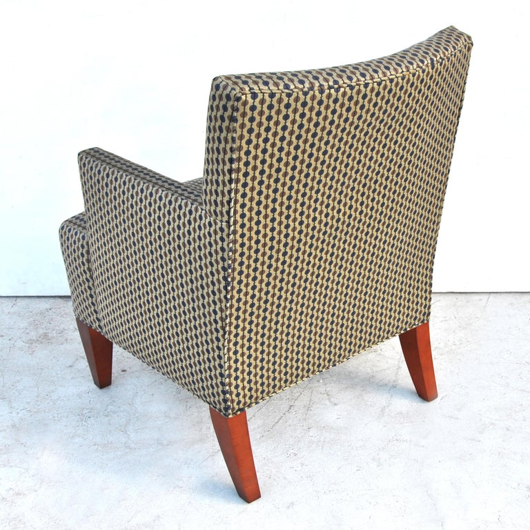 Fabric Pair of Modern Lounge Chairs by Hickory Furniture For Sale