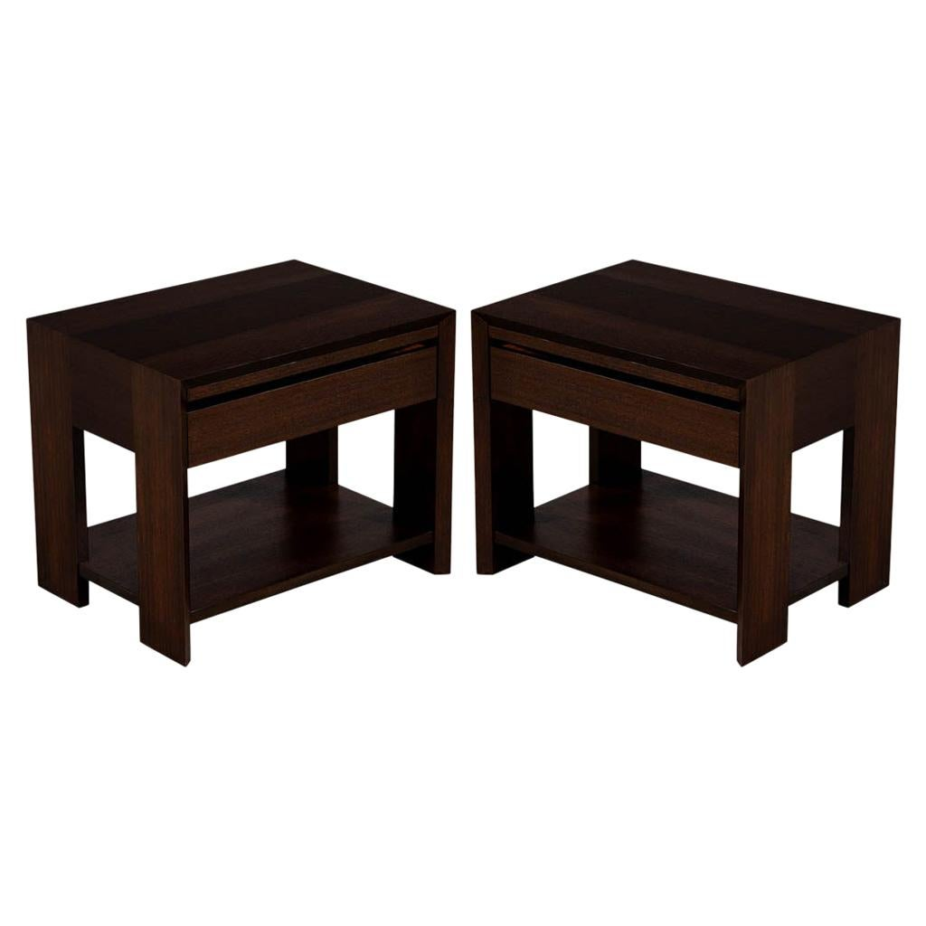 Pair of Modern Mahogany End Tables