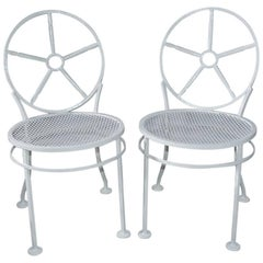 Pair of Modern Metal Porch/Garden Chairs