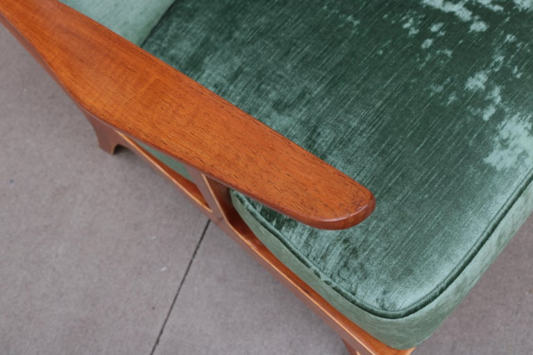 French Pair of Modern Midcentury Armchairs For Sale