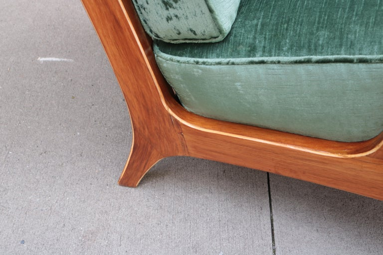Pair of Modern Midcentury Armchairs For Sale 2