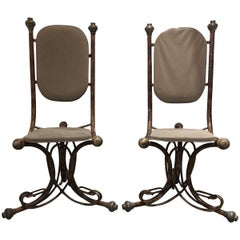 Pair of Modern Midcentury Bentwood Style Accent Chairs