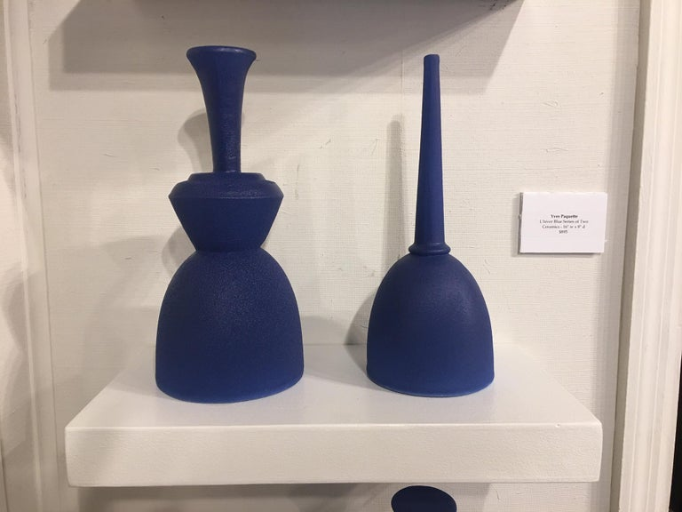 American Pair of Modern Pantone Color Fine Ceramic Objects of Art by Yves Paquette For Sale