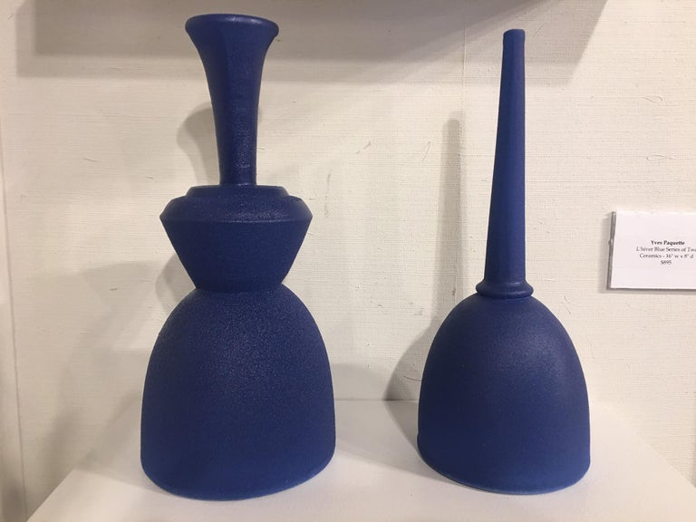 Pair of Modern Pantone Color Fine Ceramic Objects of Art by Yves Paquette In New Condition For Sale In Savannah, GA