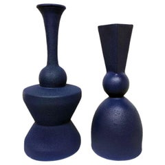 Pair of Modern Pantone Color Fine Ceramic Objects of Art by Yves Paquette