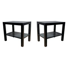 Pair of Modern Parsons Endtables / Night stands attributed to Robsjohn Gibbings
