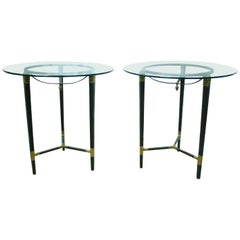 Pair of Modern Style Bronze Round Tables