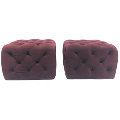 Pair of Modern Tufted Ottomans