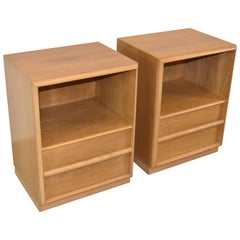 Pair of Modern Walnut Nightstands Designed by T.H. Robsjohn- Gibbings