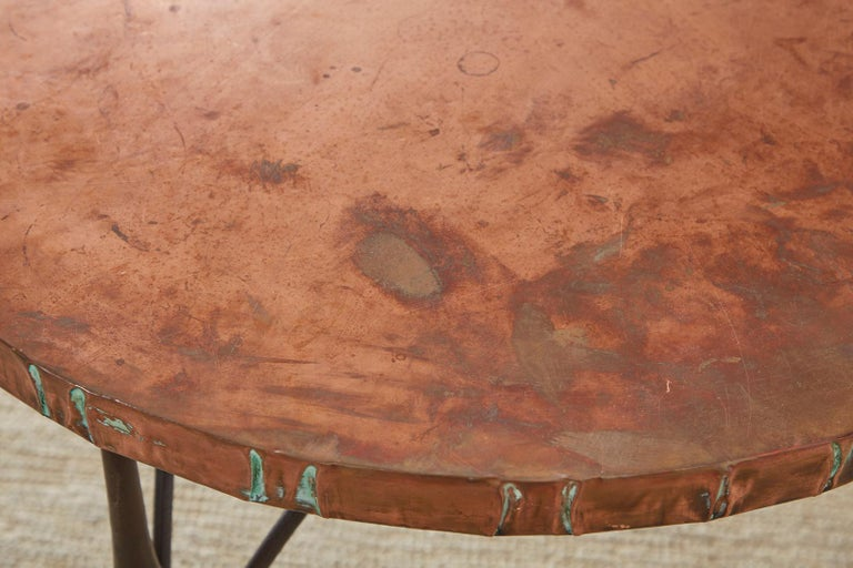 Pair of Moderne Copper Top Centre or Dining Tables For Sale 5