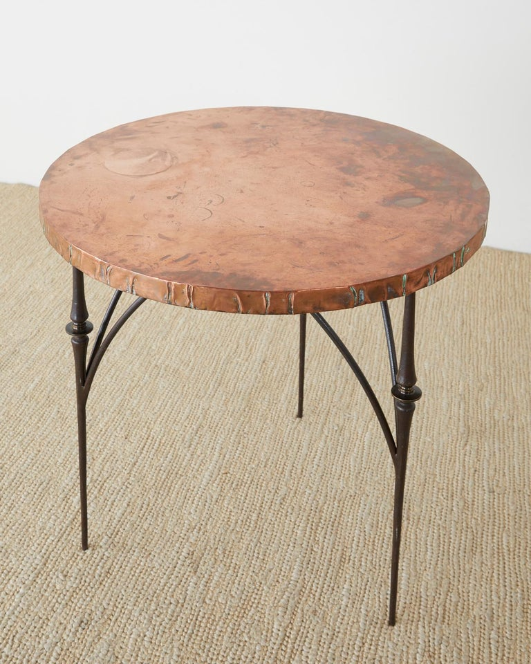 Pair of Moderne Copper Top Centre or Dining Tables For Sale 9