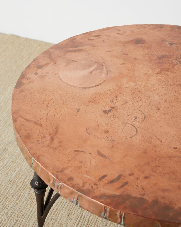 Pair of Moderne Copper Top Centre or Dining Tables For Sale 10