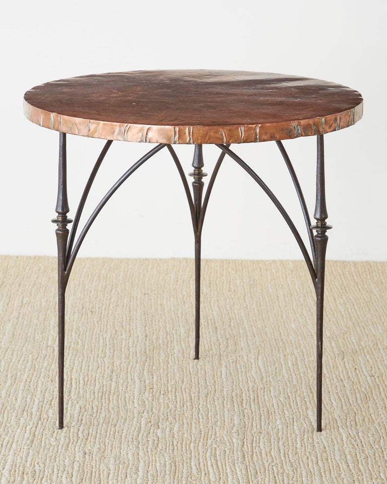 Bronze Pair of Moderne Copper Top Centre or Dining Tables For Sale