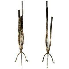 Pair of Moderne Italian Candlesticks