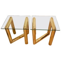 Pair of Moderne Side Tables