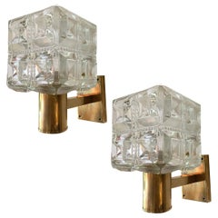 Pair of Moderne Style Bronze Sconces