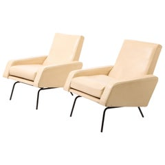 Pair of Modernist Armchairs by Louis Paolozzi, France, 1960's