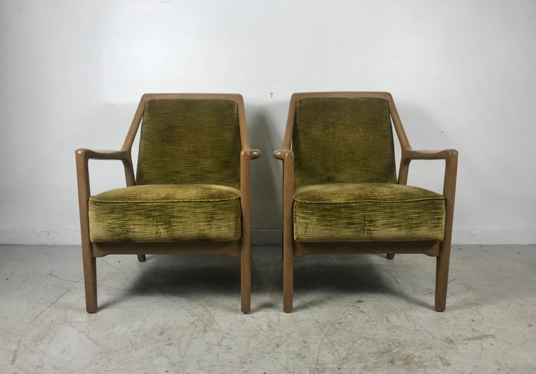 Mid-Century Modern Pair of Modernist Ash Group Chairs by Jack Van der Molen for Jamestown Lounge For Sale