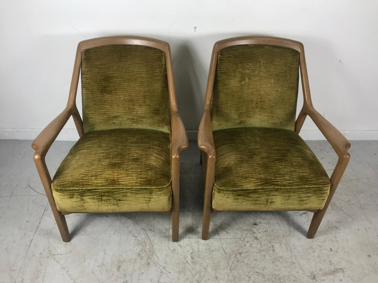 American Pair of Modernist Ash Group Chairs by Jack Van der Molen for Jamestown Lounge For Sale