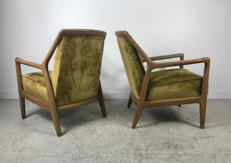 Pair of Modernist Ash Group Chairs by Jack Van der Molen for Jamestown Lounge For Sale 1