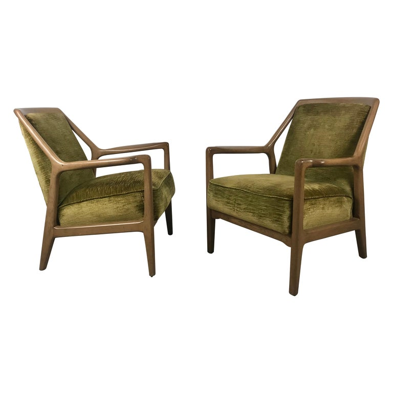 Pair of Modernist Ash Group Chairs by Jack Van der Molen for Jamestown Lounge For Sale