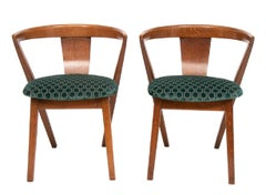 Pair of Modernist Bedroom Chairs, c.1940