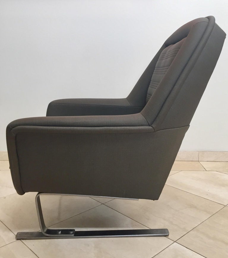 Pair of Modernist Cantilever Club Lounge Chair Augusto Bozzi Style, 1970 For Sale 5