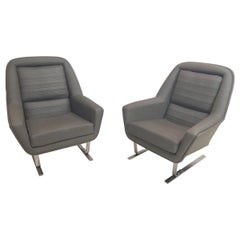 Pair of Modernist Cantilever Club Lounge Chair Augusto Bozzi Style, 1970
