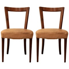 Pair of Modernist Chairs in Oak Wood for Oda Gadda House