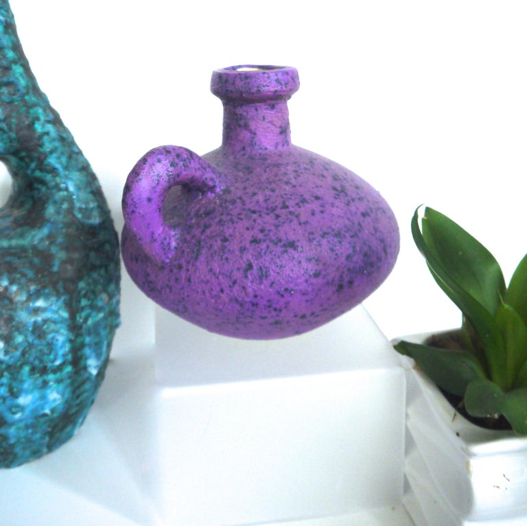 Pair of Modernist European Fat Lava Vintage Ceramic Vases, Mid-1960s In Good Condition For Sale In Halstead, GB
