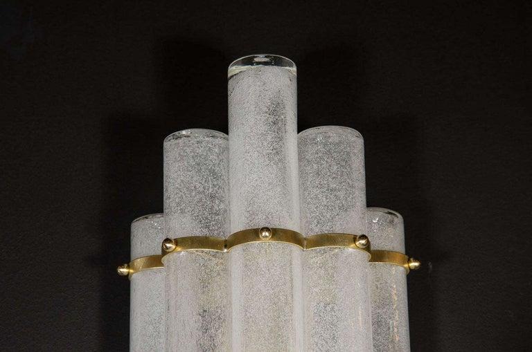 Mid-Century Modern Pair of Modernist Hand Blown Murano Glass