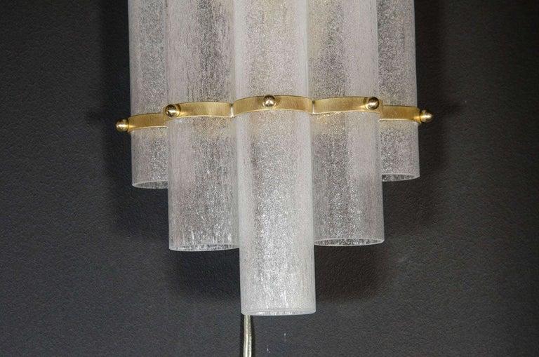 Italian Pair of Modernist Hand Blown Murano Glass