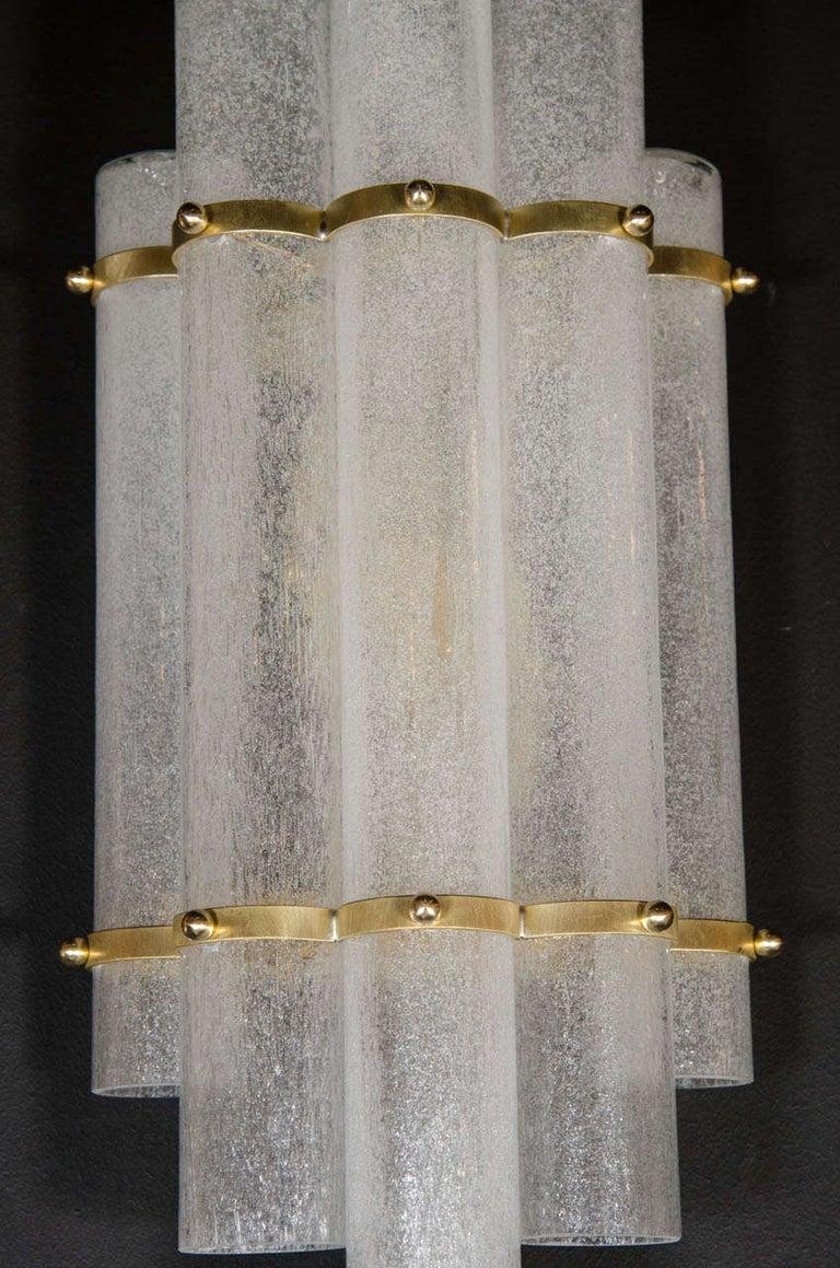 Pair of Modernist Hand Blown Murano Glass