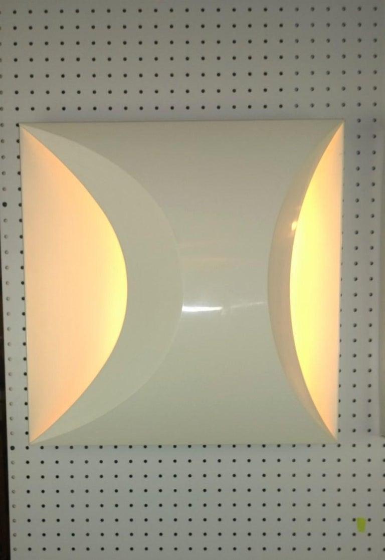 Pair of Modernist Square RAAK Amsterdam White Sconces / Flushmount Lighting For Sale 7