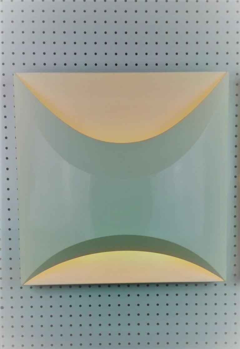 Pair of Modernist Square RAAK Amsterdam White Sconces / Flushmount Lighting For Sale 4