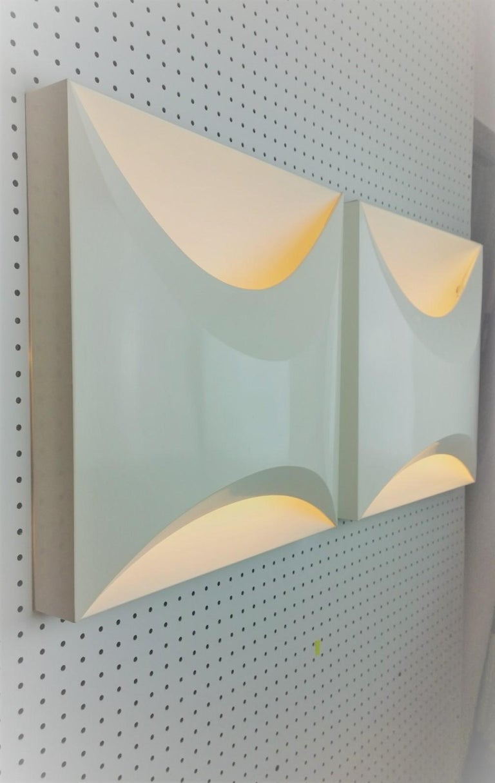 Pair of Modernist Square RAAK Amsterdam White Sconces / Flushmount Lighting For Sale 5