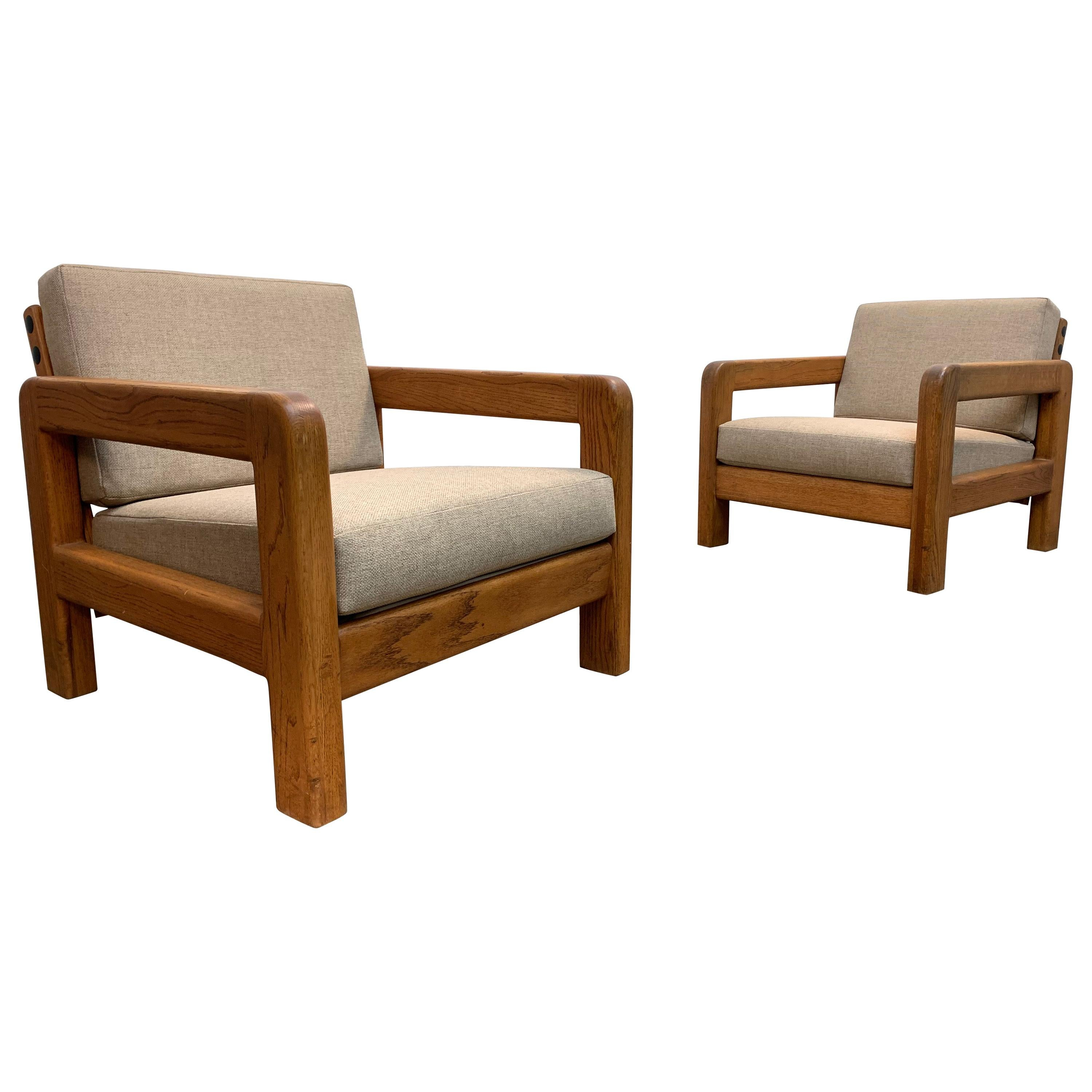 Pair of Modernist Lounge Chairs