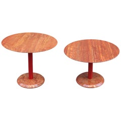 Pair of Modernist Marble Side Tables