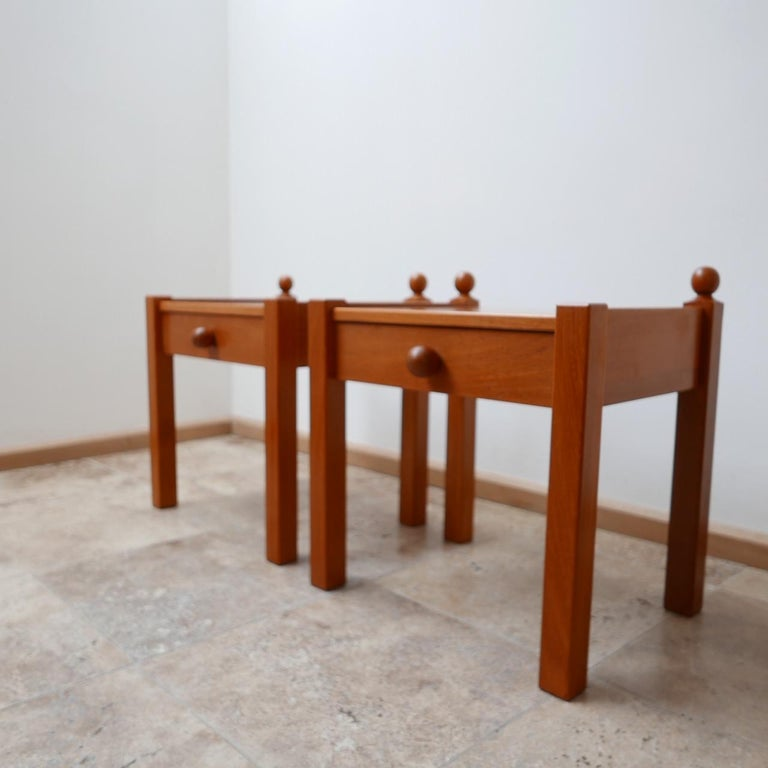 French Pair of Modernist Midcentury Bedside Tables or Side Tables For Sale
