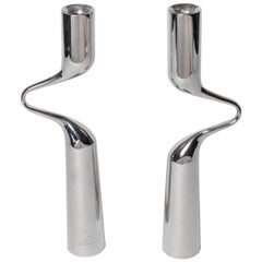 Pair of Modernist Mikaela Dorfel Candle holders. Offered by Funky Finders