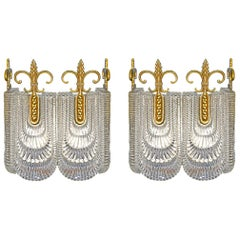 Pair of Modernist Sconces by Kaiser Leuchten, Double Wall Lights Vintage, 1970s