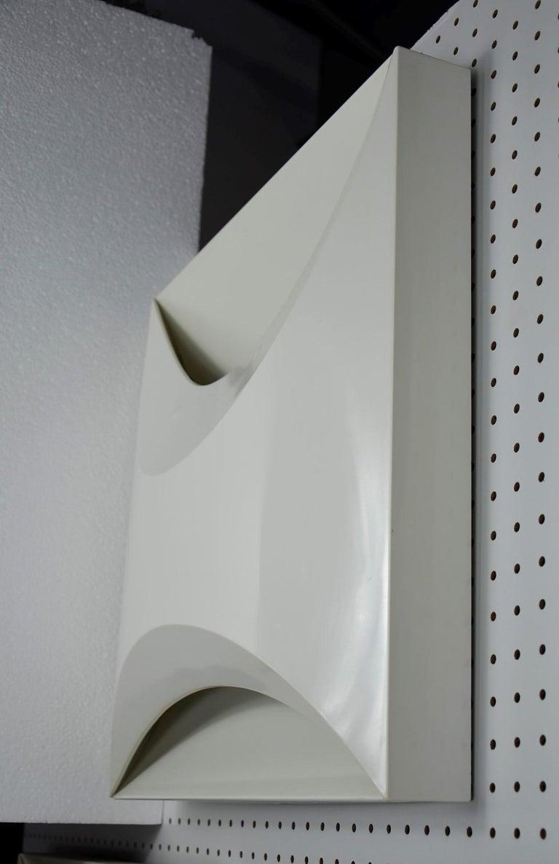Post-Modern Pair of Modernist Square RAAK Amsterdam White Sconces / Flushmount Lighting For Sale
