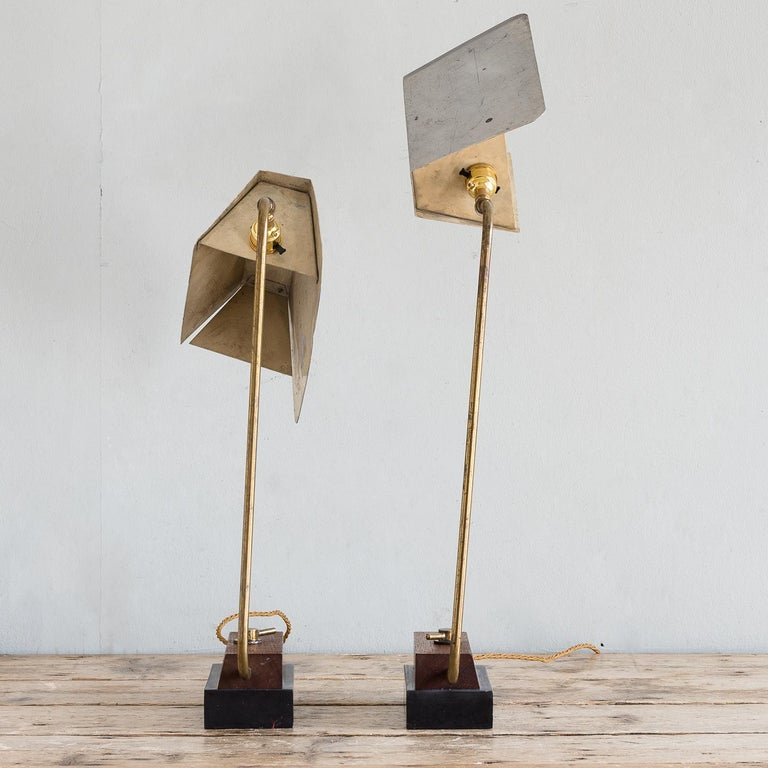 Mid-Century Modern Pair of Modernist Table Lamps For Sale