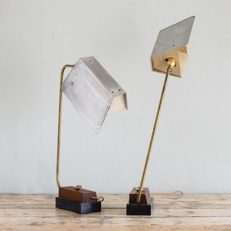European Pair of Modernist Table Lamps For Sale