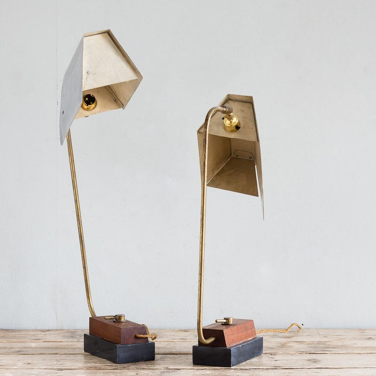 Pair of Modernist Table Lamps In Good Condition For Sale In London, GB