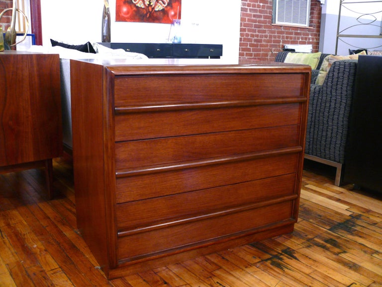 Mid-Century Modern Pair  Three-Drawer Chests  or Dressers by T.H. Robsjohn-Gibbings For Sale