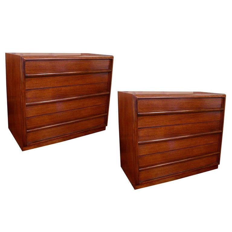 Pair  Three-Drawer Chests  or Dressers by T.H. Robsjohn-Gibbings For Sale
