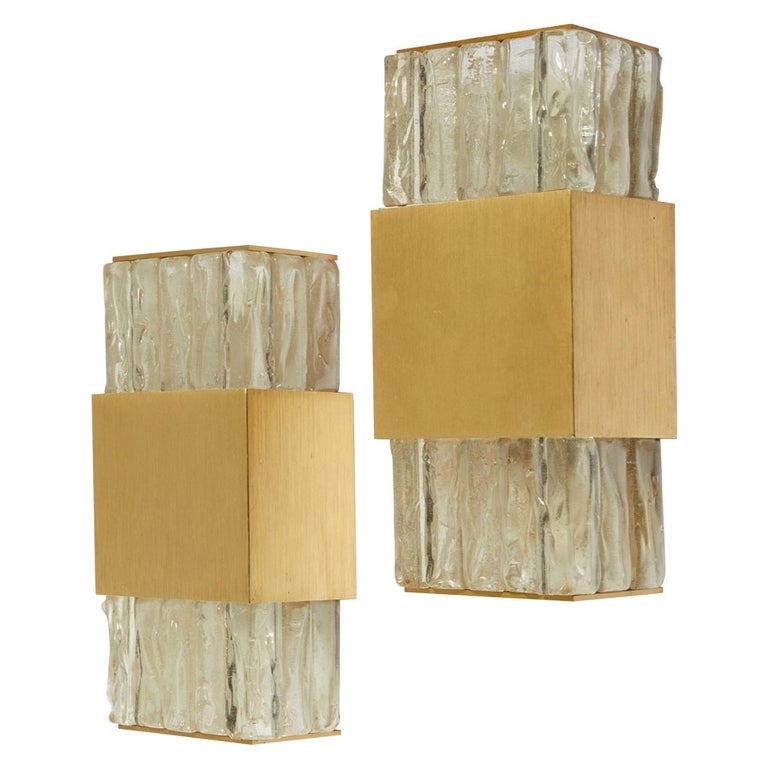 Pair of Modernist Wall Sconces For Sale