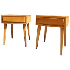 Pair of Modernmates Birch Nightstand by Leslie Diamond for Conant Ball